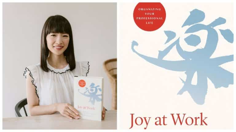 Marie Kondo with Joy at Work book